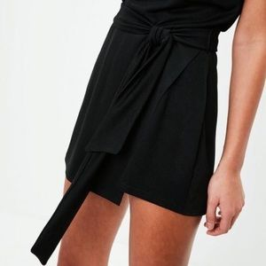 d6cdcd67ac6 Missguided Pants - Black Tie Front Skort Playsuit